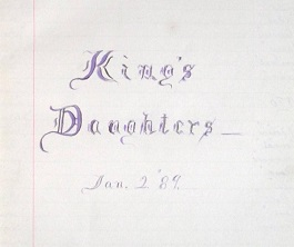 Image for 1889 - 1896 ORIGINAL MANUSCRIPT DIARY, RECORD AND LEDGER BOOK OF THE ROYALSTON CHAPTER OF THE KING'S DAUGHTERS: A CHARITABLE WORKS SOCIETY