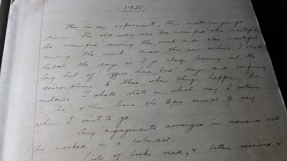 Image for 1935 - 1936 ORIGINAL MANUSCRIPT DIARY HANDWRITTEN BY AN ENGAGING, STUDIOUS, SKIRT CHASING SOUTH AFRICAN COLLEGE STUDENT WHO LIVES A LIFE OF FUN AND SUN OUTSIDE OF SCHOOL