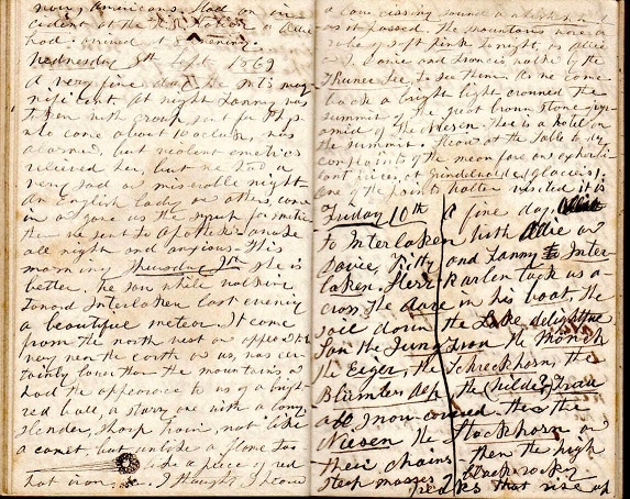 Image for 1869 - 1870 SUPER, ORIGINAL MANUSCRIPT DIARY HANDWRITTEN BY A YOUNG CONNECTICUT WOMAN VISITING HER FAMOUS PARIS BASED ARTIST UNCLE AND COUSIN WHILE FRANCE ONCE MORE ROILS FROM NAPOLEON III SECOND EMPIRE TO BE REBORN AS A MORE ENDURING THIRD REPUBLIC