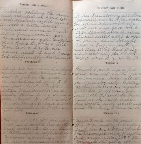 Image for 1876 ORIGINAL MANUSCRIPT DIARY HANDWRITTEN BY A FUTURE MEDICAL DOCTOR DETAILING HIS EDUCATION AND LIFE AT THE NOW CLOSED BOWDOIN MEDICAL COLLEGE IN BRUNSWICK MAINE