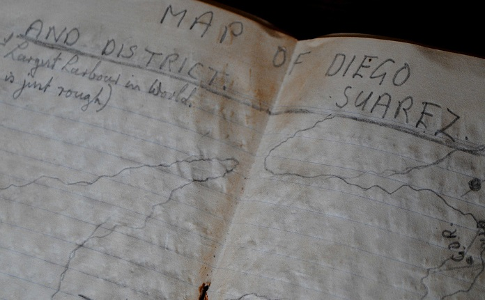 Image for 1943 ORIGINAL MANUSCRIPT DIARY OF ONE BRITISH GUNNER'S MISERABLE 6 MONTHS IN DIEGO SUAREZ MADAGASCAR
