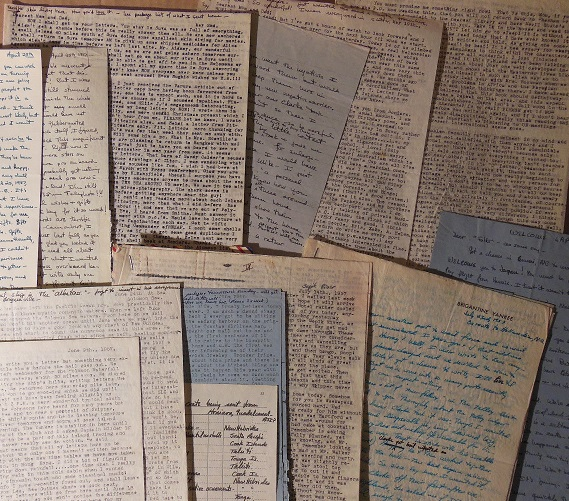 Image for 1956 - 1958 ORIGINAL ARCHIVE OF 60+ TYPED AND MANUSCRIPT LETTERS WRITTEN BY A YOUNG FEMALE SAILOR AS SHE CIRCUMNAVIGATES THE WORLD ABOARD THE STORIED BRIGANTINE YANKEE AND THE REMARKABLE SAILING COUPLE IRVING AND EXY JOHNSON