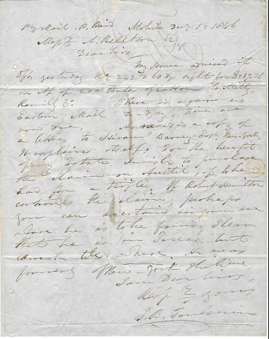 Image for 1846 ORIGINAL MANUSCRIPT LETTERS [2] HANDWRITTEN BY ONE OF ALABAMA'S LEADING COTTON FACTORS AND WHY COTTON WAS INDEED KING IN MOBILE