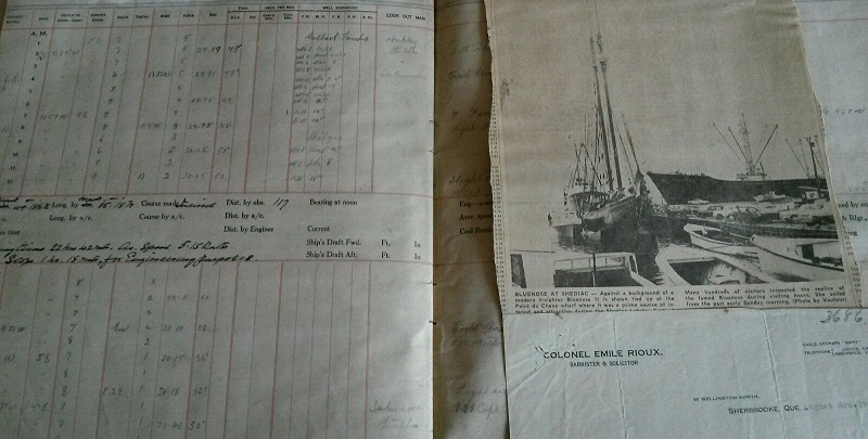 Image for 1911 - 1947 ORIGINAL LARGE GROUP OF JOURNALS, DECK LOGS, LETTERS OF CORRESPONDENCE, DOCUMENTS AND EPHEMERA RELATED TO THE SERVICE OF AN EAST COAST CANADIAN MERCHANT MARINE STEAMSHIP CAPTAIN PLYING HIS TRADE FROM THE MARITIMES, QUEBEC AND THE WEST INDIES