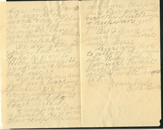 Image for 1895 - 1897 ORIGINAL GROUP OF MANUSCRIPT LETTERS [6] HANDWRITTEN BY A YOUNG MAN KEEPING IN TOUCH WITH HIS MOTHER IN TENNESSEE WHILE HE WORKS HIS WAYS THROUGH THE TIMBERLANDS OF MISSISSIPPI