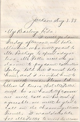 Image for 1888 ORIGINAL GROUP OF FOUR [4] MANUSCRIPT LETTERS BY A JACKSON MISSISSIPPI LAWYER AND SWAIN