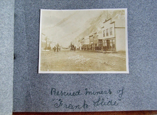 Image for 1904 ORIGINAL ALBUM OF SNAPSHOTS DEPICTING THE NORTHWEST TERRITORIES TOWN OF FRANK AND THE WORST CANADIAN NATURAL DISASTER IN NEAR ARCTIC HISTORY