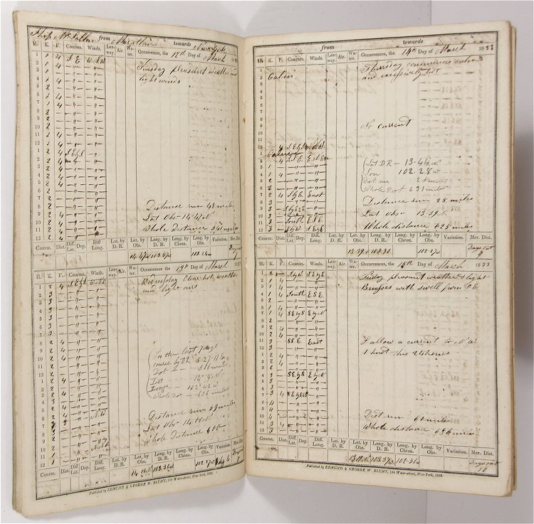Image for 1833 ORIGINAL MANUSCRIPT SHIP'S LOG OF A 155 DAY VOYAGE FROM THE PACIFIC COAST OF MEXICO TO NEW YORK CITY