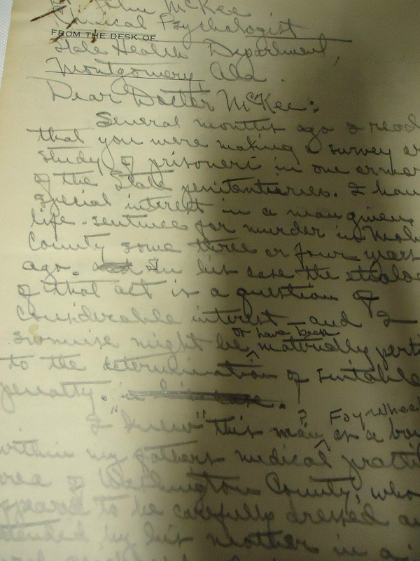 Image for 1966 ORIGINAL GROUP OF MANUSCRIPT AND TYPED LETTERS REGARDING A NOTORIOUS DOUBLE MURDER AND ATTEMPTED SUICIDE IN MOBILE ALABAMA IN THE 1940s
