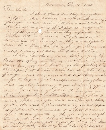 Image for 1834 + 1837 ORIGINAL GROUP OF FIVE [5] LETTERS HANDWRITTEN BY A YOUNG MASSACHUSETTS MAN SEEKING INVESTMENT AND EMPLOYMENT IN ALABAMA  ONLY TO MAKE AN ILL ADVISED MOVE TO TEXAS