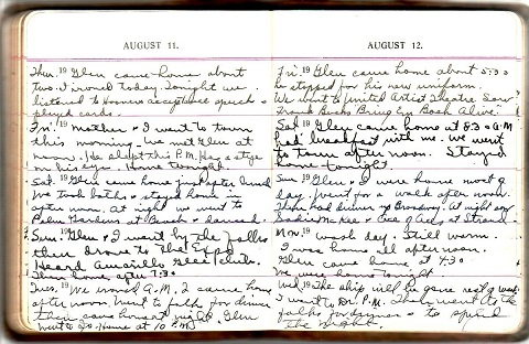 Image for 1932 - 1936 ORIGINAL MANUSCRIPT 5-YEAR DIARY HANDWRITTEN BY A WEST COAST NAVY WIFE DUTIFULLY AND DELIGHTFULLY FOLLOWING HER HUSBAND FROM SAN DIEGO CALIFORNIA TO BREMERTON WASHINGTON AND BACK