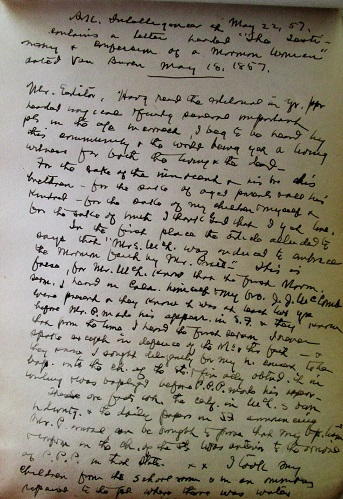 Image for 1880s - 1900s ORIGINAL MANUSCRIPT JOURNAL OF ONE ARKANSAS MAN'S DETERMINED DOCUMENTING OF THE 1857 MORMON ATROCITY AND AMERICA'S WORST MASS SHOOTING KNOWN AS THE MOUNTAIN MEADOWS MASSACRE