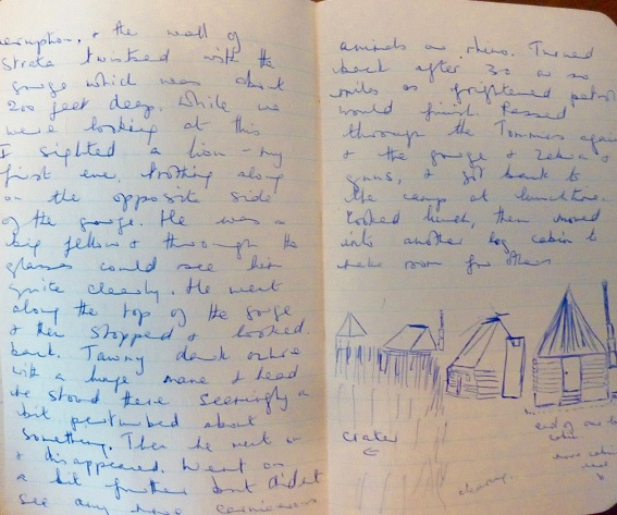 Image for 1951 - 1952 ORIGINAL MANUSCRIPT TRAVEL DIARY OF A 10,000 MILE EPIC JOURNEY BY TRUCK FROM EUROPE TO SOUTH AFRICA HANDWRITTEN BY A 17 YEAR OLD GIRL MAKING THE TRANS CONTINENTAL TREK WITH HER 20 YEAR OLD BROTHER