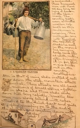 Image for 1915 ORIGINAL EXPEDITION JOURNAL AND TRAVEL SCRAPBOOK TO WEST AFRICA AND THE ISLANDS OFF THE WEST COAST FOR HIS DAUGHTER RUTHIE HANDWRITTEN AND COMPILED BY A TRUE RENAISSANCE MAN WITH THE BACKDROP OF WWI LOOMING