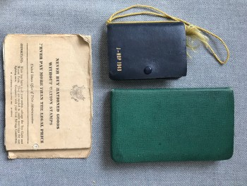 Image for 1938-1941 Archive Lot of Four Original Manuscript Diaries, Four Ration Books, and a University of Michigan J-Hop 1949 Playing Card Case & Cards Belonging to a Very Successful American Finance and Accounting Professional