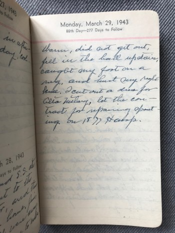 Image for 1941-1951 Archive Lot of Deeply Personal Original Handwritten Diaries that Provide a Detailed Account of One Woman's Life in Middle-Class America During and After World War II