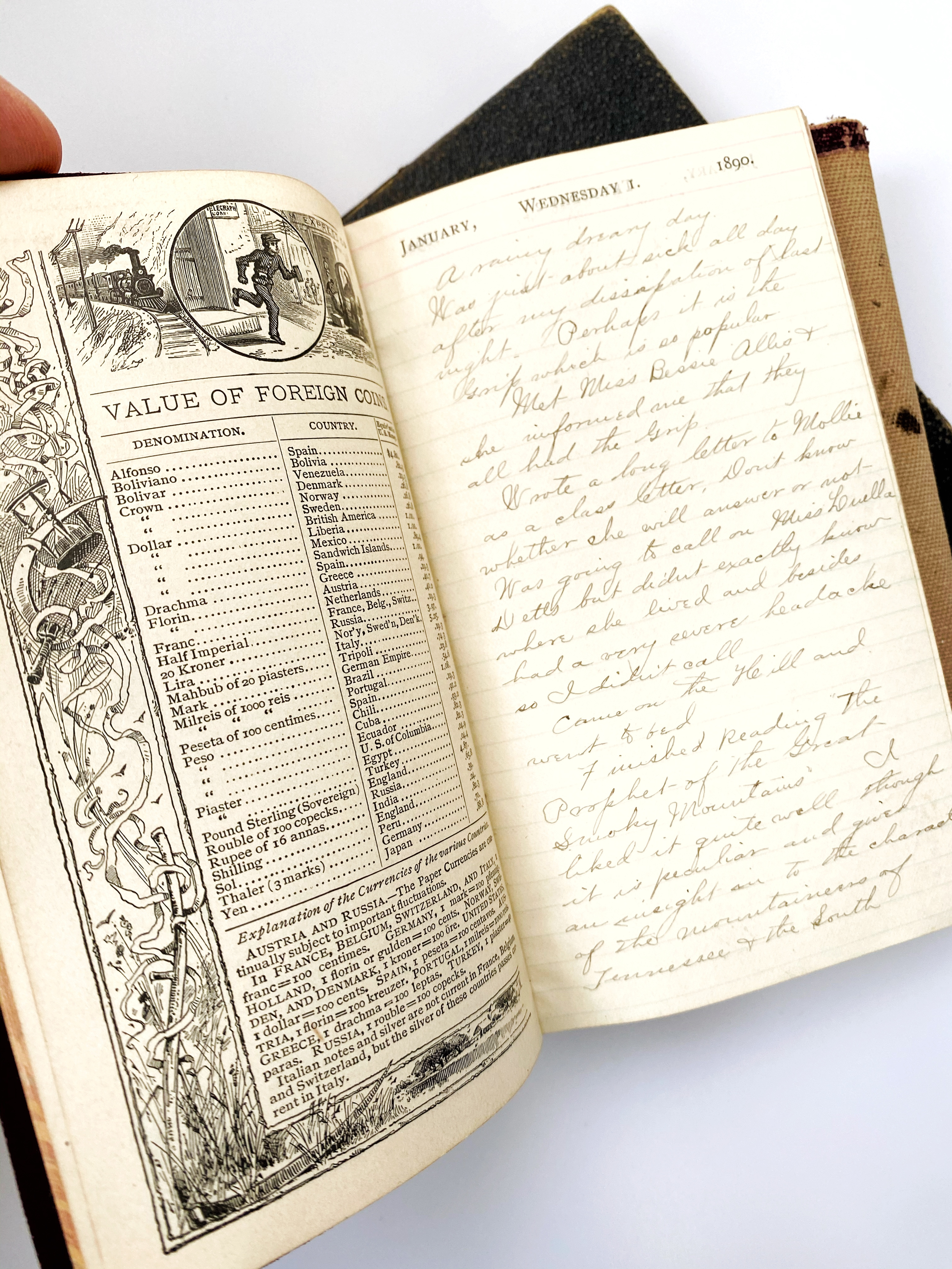 Image for 1890 and 1892 Original Handwritten Diaries by a Lively Michigan Law Student Beginning His Career At the Close of the Nineteenth Century